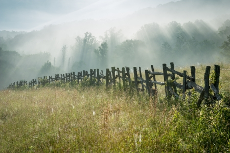 Blue Ridge Parkway Wooden Fence photo