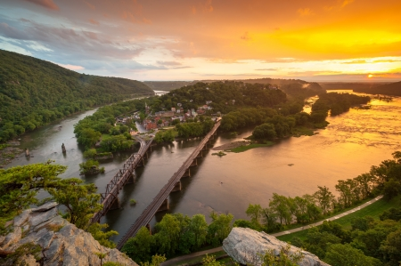 Harpers Ferry National Historical Park Sunset Stock Photo - 22025991