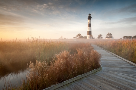 North Carolina Outerbanks Bodie Island Lighthouse Autumn photo
