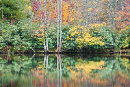 North Carolina Blue Ridge Mountain Autumn Reflections Price Lake Blue Ridge Parkway photo