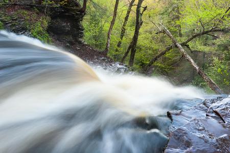 allegheny: Pennsylvania Ricketts Glen State Park Spring Waterfall