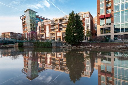 Greenville South Carolina Downtown Revitalization Along the Reedy River photo