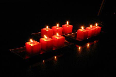 Mysterious Candles Stok Fotoğraf