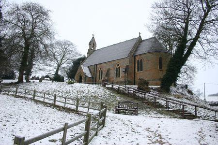 A Village Church In Winter Фото со стока - 358847