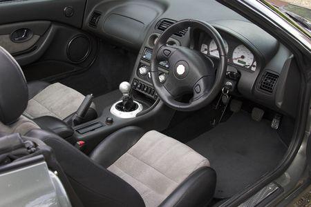 Ein Sportwagen Interieur Standard-Bild