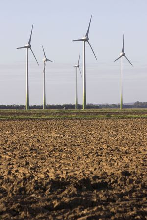 Wind Turbines On Agricultural Land