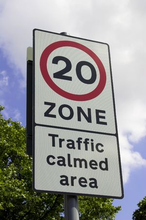 Roadside Speed Restriction Warning Sign