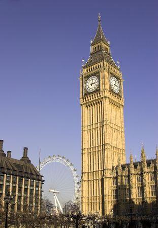 Big Ben and London Eye, Westminster, London, England
