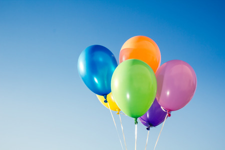 red and blue: Color balloons Stock Photo