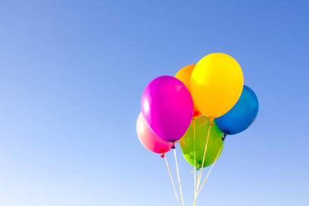 Color balloons background photo