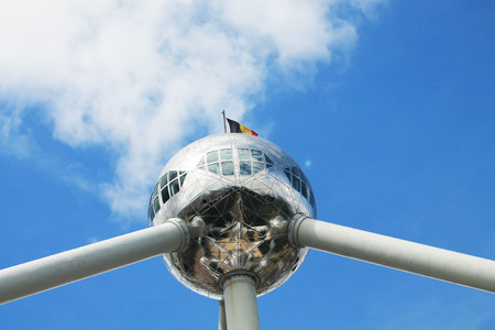 Atomium Structure in Brussels, Belgium 에디토리얼