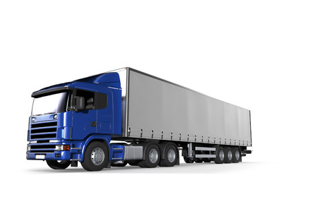 semitrailer: Cargo Delivery Vehicle Stock Photo