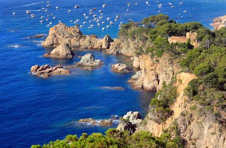 Typical Costa Brava landscape near Tossa de Mar (Girona, Spain) photo