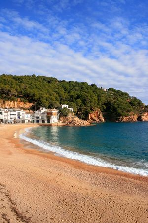 Beautiful beach in Tamariu (Costa Brava, Catalonia, Spain) photo