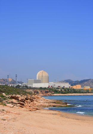 nuclear power plant: Nuclear power plant on the beach in Vandellos (Tarragona, Spain)