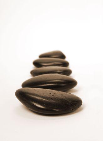 stones on white background (sepia toned)r photo