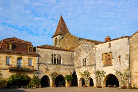 The bastide of Monpazier (Dordogne, France), founded in 1284 photo