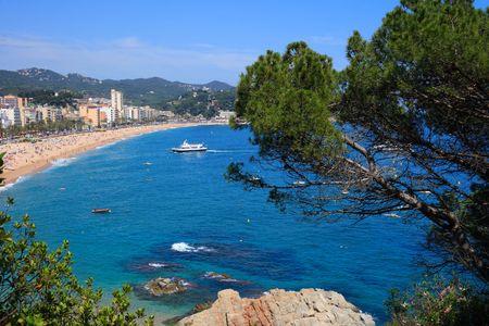 costa brava: Magnifique paysage � Lloret de Mar (Costa Brava, Catalogne, Espagne)