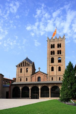 catalonia:  Maria de Ripoll monastery (Catalonia, Spain). Founded in 879, is considered the cradle of the catalan nation.