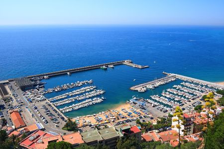 an overview: Blanes port overview (Costa Brava, Catalonia, Spain)