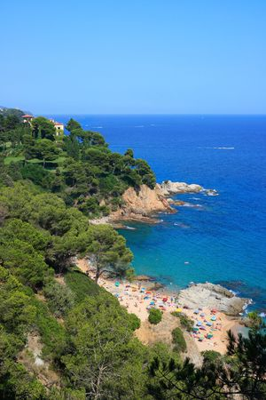 Cala Boadella beach at Lloret de Mar (Costa Brava, Catalonia, Spain) photo