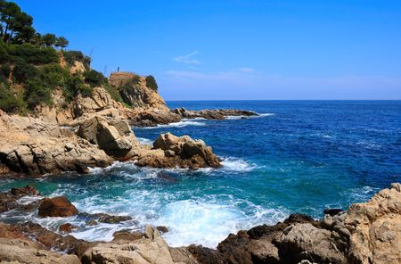costa brava: Costa Brava paysage pr�s de Lloret de Mar (Catalogne, Espagne)