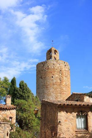 The Tower of the Hours in the medieval village of Pals (Costa Brava, Spain) Stock Photo - 3817551