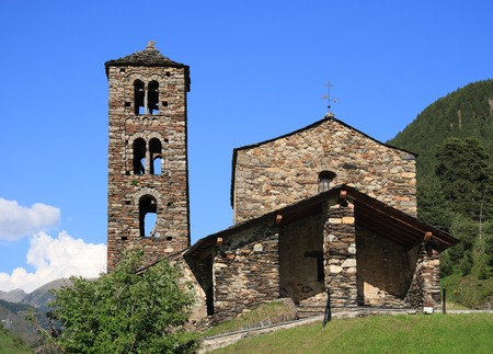 sant: Sant Joan de Caselles (Canillo, Andorra). Romanesque church build in the 12th century.