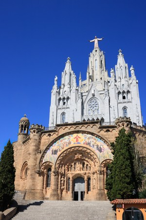 The Expiatory Temple of the Sacred Heart in Barcelona (Spain) photo
