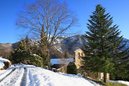 near: Sant Mar�al chapel. Montseny Natural Park and Biosphere Reserve, near Barcelona, Catalonia, Spain.