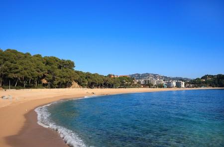 costa brava: Fenals plage de Lloret de Mar (Costa Brava, Catalogne, Espagne)
