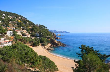 sant: Cala Sant Francesc beach near Blanes (Costa Brava, Catalonia, Spain)