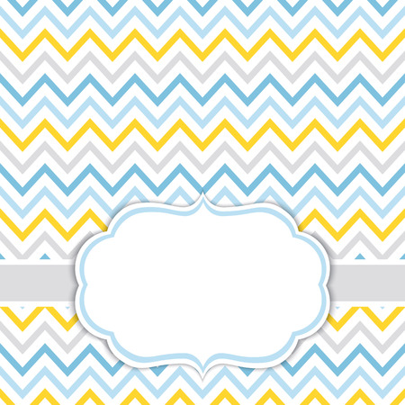 Vector card template for baby boy shower, birthdays and parties with space for your text.