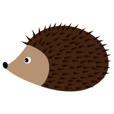 Vector cute hedgehog. Hedgehog clipart. Baby hedgehog vector illustration.