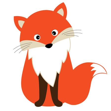 Vector cute cartoon fox. Baby Fox vector illustration.