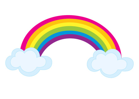 vector colorful rainbow with clouds rainbow clipart rainbow rh 123rf com rainbow clipart transparent rainbow clipart images