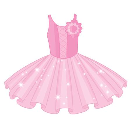 Vector soft pink tutu dress. Vector ballerinas tutu dresses.  Ballet dress  vector illustration Illusztráció
