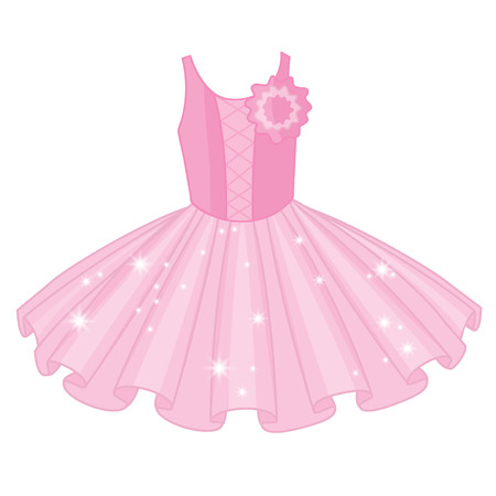 Vector soft pink tutu dress. Vector ballerina's tutu dresses.  Ballet dress  vector illustration