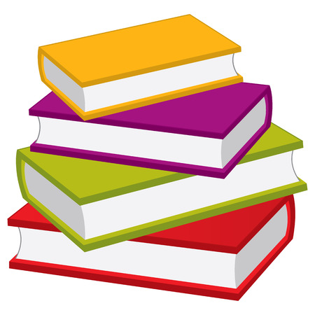 Vector stack of books. Vector pile of books. Books vector illustration Ilustracja