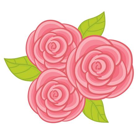 Pastel roses illustration. Illustration