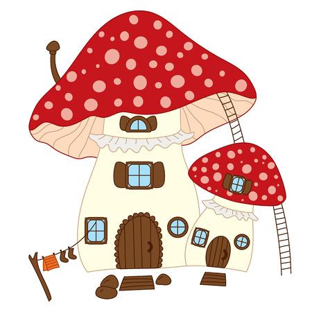 Cute mushroom house.