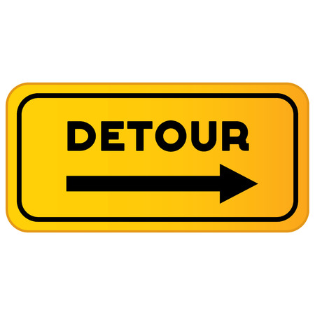 Vector detour road sign. Detour sign vector illustration Stock Illustratie
