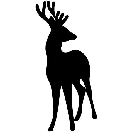 Vectorsilhouet van mooie bosherten. Stock Illustratie