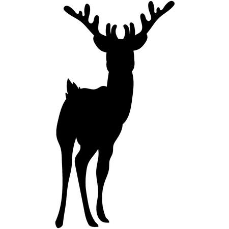 Vector silhouette of beautiful woodland deer. Stock Vector - 88310394