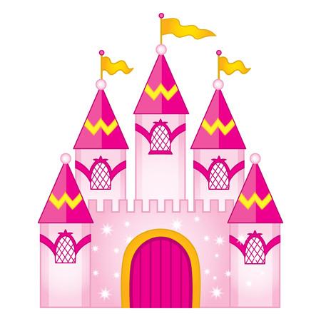 Vector magic fairytale castle. Vector princess castle. Castle vector illustration
