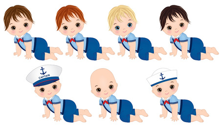 cute baby boys dressed in nautical style.