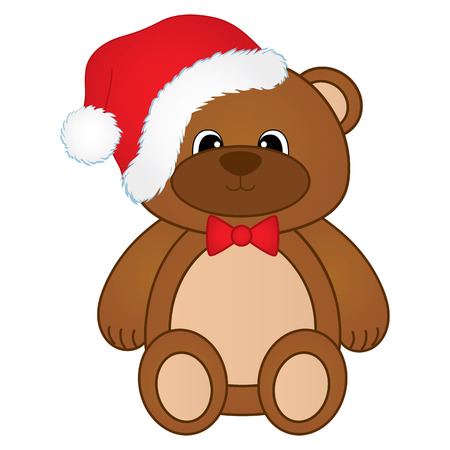 cute Christmas teddy bear.