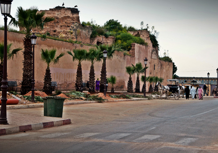 Streets of Meknes in Morocco