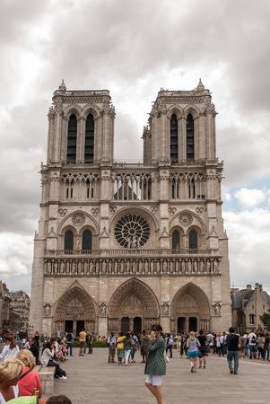 Cathedral of Notre Dame de Paris. France Editorial