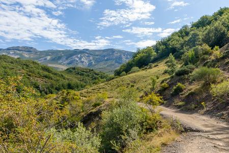 Beautiful views of the mountain of Palencia. Fuentes de Carrionas natural park. Reklamní fotografie